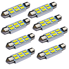 tanie Oświetlenie pomocnicze-JIAWEN 10pcs Festoon 39 mm Samochód Żarówki 1.2W W SMD 5730 95lm lm Tail Light Reflektor Lampka drzwiowa Lampka do dokonywania przeglądu