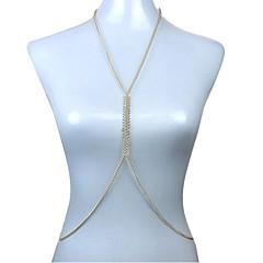 baratos Bijoux de Corps-Mulheres Bijuteria de Corpo Corrente de Barriga Cadeia corpo / Cadeia de barriga Sensual Fashion Europeu Chapeado Dourado Jóias Para
