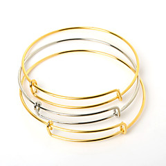 Beadia 10Pcs 6.5cm Steel Adjustable Bracelet