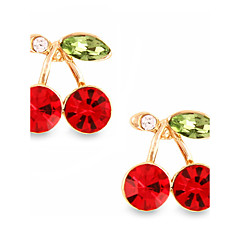 cheap Earrings-Women's Crystal Alloy Round Jewelry Red Costume Jewelry