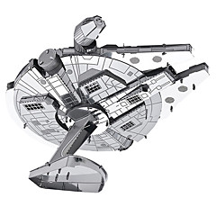 cheap -Millennium Falcon 3D Puzzles Metal Puzzles Model Building Kit Spacecraft 3D Metal War Children's Adults' Gift