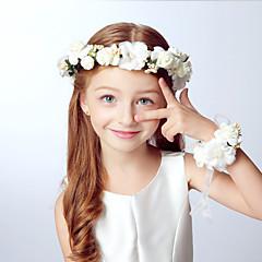 baratos Acessórios para Crianças-Acessórios de cabelo para meninas de meninos, fitas acrílicas de todas as estações - Bege roxo cáqui