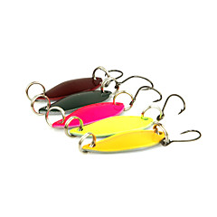 cheap Fishing Lures & Flies-5 pcs Fishing Lures Spoons Metal Sea Fishing / Spinning / Jigging Fishing / Freshwater Fishing / Bass Fishing / Lure Fishing / General Fishing