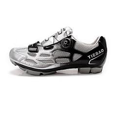 billige Sykkelsko-Tiebao® Mountain Bike-sko Nylon Vanntett, Anti-Skli, Demping Sykling Oransje / Grønn / Blå Herre