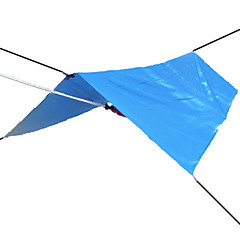 3-4 אנשים מחסה וברזנט יריעת אוהל קמפינג אוהל עמיד למים עמיד אולטרה סגול מוגן מגשם הגנה מפני השמש קל במיוחד(UL) כיסוי כסף ל ציד דיג קמפינג