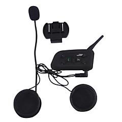 baratos Fones para Capacetes de Motocicleta-Vnetphone V6 1Pcs 1200 metros capacete da motocicleta do bluetooth interfone para responder telefone automaticamente, ouvir música e falar livremente