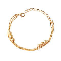billige -Dame Kæde & Lænkearmbånd Mode Legering Cirkelformet Gylden Smykker For 1 Stk.
