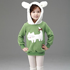 billige Hættetrøjer og sweatshirts til piger-Baby Pige Tegneserie Patchwork Uden ærmer Hættetrøje og sweatshirt
