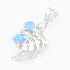 結婚式毎日1個のためのネックレスのためのファッションluckyshine青白火ラウンドオパールの宝石925シルバーペンダント