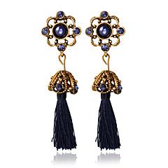 cheap Earrings-Women's Others - Tassel Dark Blue Earrings For Wedding