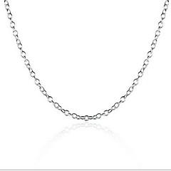 Erkek Kadın Zincir Kolyeler Som Gümüş Moda Kişiselleştirilmiş Mücevher Uyumluluk Düğün Parti Günlük Spor