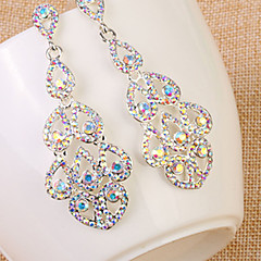 Damskie - Kryształ górski, Imitacja diamentu Kropla Duże, Luksusowy, Europejskie Tęczowy Na Ślub Codzienny Casual
