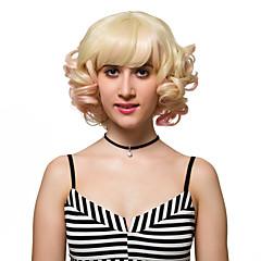tanie Peruki syntetyczne-Peruki syntetyczne Gęstość Bez czepka Damskie Blond bezosłonowe Peruki Krótki Włosy syntetyczne