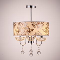billiga Dekorativ belysning-QINGMING® Trumma Ljuskronor Fluorescerande Elektropläterad Tyg Kristall 110-120V / 220-240V Glödlampa inte inkluderad / E12 / E14