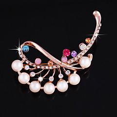 jeden kus / růže zlaté brože svatební party elegantní ženský styl