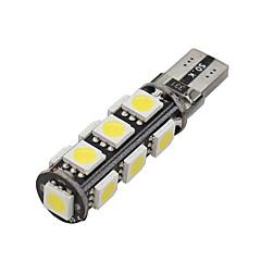 billige Interiørlamper til bil-10x CANbus kile t10 hvit 192 168 194 W5W 13 5050 SMD LED lys lampe pære feilfri 12v