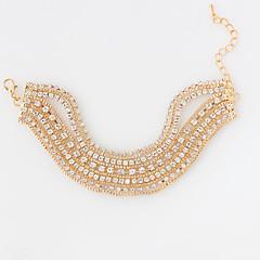 Γυναικεία Βραχιόλια Τένις Μοντέρνα Κράμα Circle Shape Ασημί Γκρίζο Χρυσαφί Κοσμήματα Για Γάμου 1pc