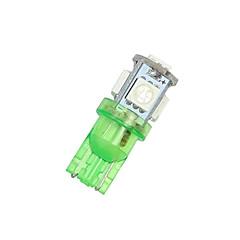 2x oss grønn t10 192 194 168 LED bil interiør& lisens tag lys 5 smd 5050 pære