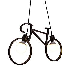 billiga Dekorativ belysning-2-Light Originella Hängande lampor Glödande Målad Finishes Metall designers 110-120V / 220-240V Glödlampa inte inkluderad / E26 / E27