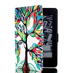 povoljno -šareni stablo uzorak kože cijelog tijela slučaj s postoljem i utor za karticu za Amazon zapaliti paperwhite / zapaliti paperwhite 2
