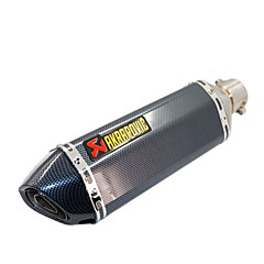 cheap Motorcycle & ATV Accessories-Modified Muffler For Motorcycle Carbon Fiber Small Hexagon Sports Car Exhaust