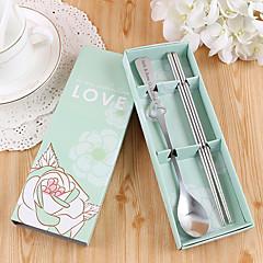 gepersonaliseerde geschenk bruiloft / / valentijn partij servies-2piece / set servies sets kits roestvrij staal