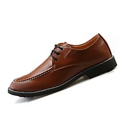 Χαμηλού Κόστους Ξεπούλημα Παπουτσιών-Ανδρικά PU Άνοιξη / Φθινόπωρο Oxfords Αντιολισθητικό Μαύρο / Γκρίζο / Καφέ