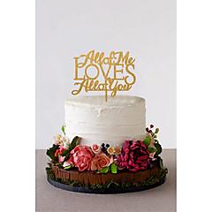 Taarttoppers Niet-persoonlijk Klassiek Koppel acryl Bruiloft bloemen Zwart Klassiek Thema 1 Cadeauverpakking