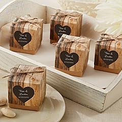 preiswerte Gastgeschenk Boxen & Verpackungen-Kreativ Quader Kartonpapier Geschenke Halter mit Muster Geschenkboxen Geschenktaschen Zuckertüten Plätzchen Beutel Geschenk Schachteln