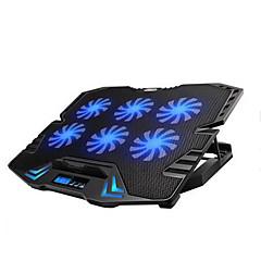 tanie Chłodzenie laptopa-regulowane doprowadziły ekran Smart Control Pad chłodzenie laptopa z 6 wentylatorów
