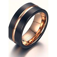 billige Fine smykker-Herre Statement Ring - Personaliseret / Hip-hop / Rock Sort Ring Til Julegaver / Bryllup / Fest