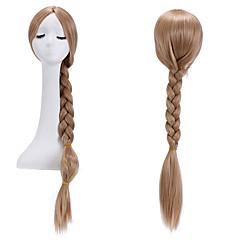 billiga Peruker och hårförlängning-Syntetiska peruker Dam Rak / Yaki Blond Med hästsvans Syntetiskt hår Blond Peruk Utan lock Mörkblond