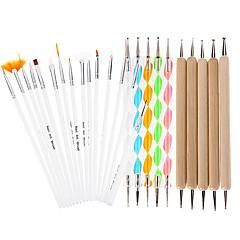 25pcs kendinden tasarım çizim kalem çivi süsleyen diy tırnak sanat tasarım boyama manikür paket araç kiti seti fırçalar