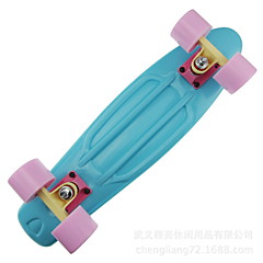 PU PP (Polypropylene) Aluminium Alloy Standard Skateboards 22 Inch Professional ABEC-7-Blushing Pink Navy Light Blue Light Green Lavender