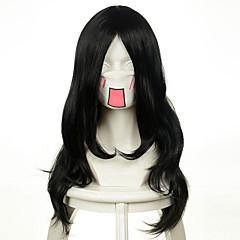 tanie Peruki syntetyczne-Włosy syntetyczne Peruki Falowana Bez czepka cosplay peruka Długo Bardzo długo Czarny