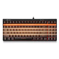 billiga Keyboards-Rapoo Kabel monochromatic bakgrundsbelysning svarta Switches 92 mekanisk Tangentbord bakgrundsbelyst Programmerbar
