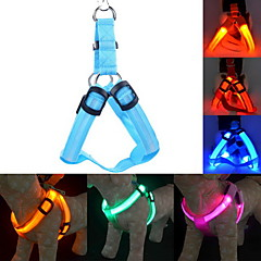 cheap Hunting & Nature-Cat / Dog Harness / Leash / Training LED Lights / Adjustable / Retractable Solid Colored Nylon Blue / Pink / Dark Red