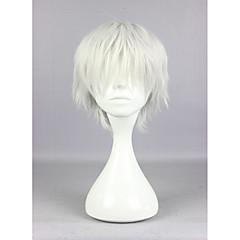 tanie Peruki syntetyczne-Peruki syntetyczne Kędzierzawy Z grzywką Gęstość Bez czepka Damskie Biały Karnawałowa Wig Halloween Wig cosplay peruka Krótki Włosy