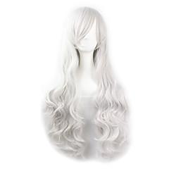 ieftine Perucă Costum-Peruci Sintetice / Peruci de Costum Ondulat Păr Sintetic Alb Perucă Pentru femei