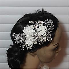 クリスタル模造パールラインストーンヘアクリップのヘッドピースのエレガントなスタイル