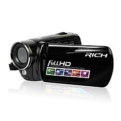 Rik 12x digital zoom full HD-videokamera 720p / 1080p svart