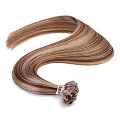 ieftine Extensii Păr Fusion-Fuziune / U Tipi Umane extensii de par Drept Păr Natural Pentru femei Zilnic