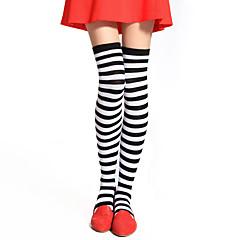 billige Lolitasko-Sokker og Strømpebukser Punk Lolita Lolita Lolita Dame Stripet Strømper Bomull Halloween-kostymer / Høy Elastisitet