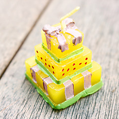 4pcs Wedding Cake candles BeterWedding Favors 3.5 x 3.5 x 4.2cm/pcs Beter Gifts® Recipient Gifts