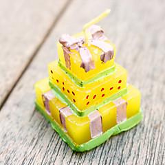 4本のウェディングケーキのキャンドルbeterwedding好き3.5×3.5×4.2センチメートル/ PCベターギフト®受信ギフト