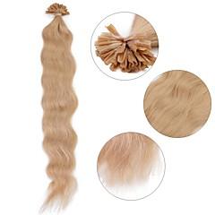 ieftine Extensii Păr Fusion-Fuziune / U Tipi Umane extensii de par Păr Natural Buclat Pentru femei Zilnic