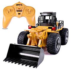 baratos Carros Controle Remoto-Carro com CR HUINA 1520 Canal 6 2.4G Caminhão / Bulldozer / Veiculo de Construção 1:14 10 km/h KM / H Controlo Remoto / Recarregável / Elétrico