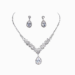 New Personal Luxury Water Dropping Rhinestone Necklace Set