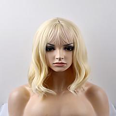 cheap Wigs & Hair Pieces-Synthetic Wig Women's Natural Wave Blonde Synthetic Hair Blonde Wig Short Capless Golden Blonde