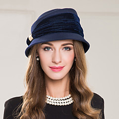 cheap Party Headpieces-Wool Polyester Alloy Hats 1 Wedding Special Occasion Casual Headpiece